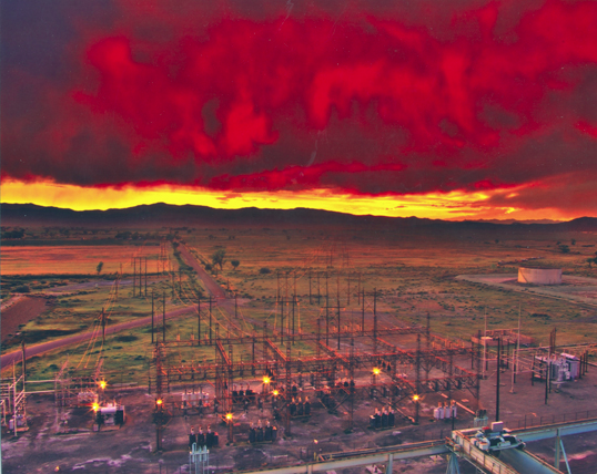 Don Porter photographed the switchyard at the Churchill power plant in Mason City, Nev.