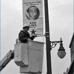 LMUD Member Hangs Banner Honoring Son