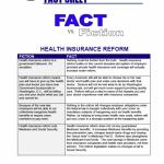 National Health Care Fact Vs. Fiction