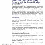 Social Security & Federal Budget