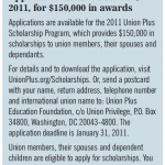 Union-Plus Scholarships for 2011