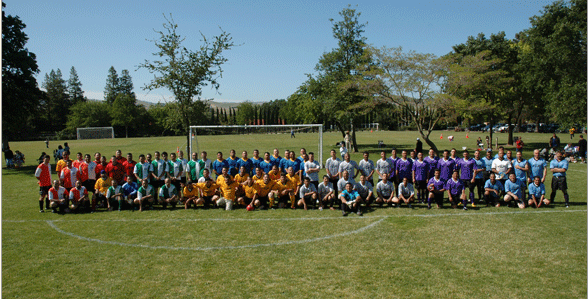 The eight teams, just prior to the opening game.
