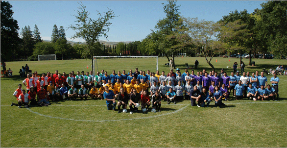 The eight teams, along with referees and the Local 1245 staff members who organized the event.