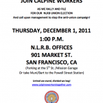 Flyer: Calpine Support Rally on Dec. 1