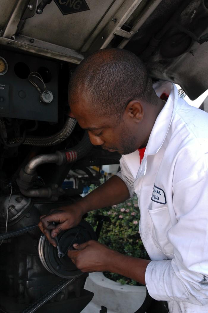 Eric Okungbowa, A Mechanic Trainee, Sacramento Regional Transit 2007