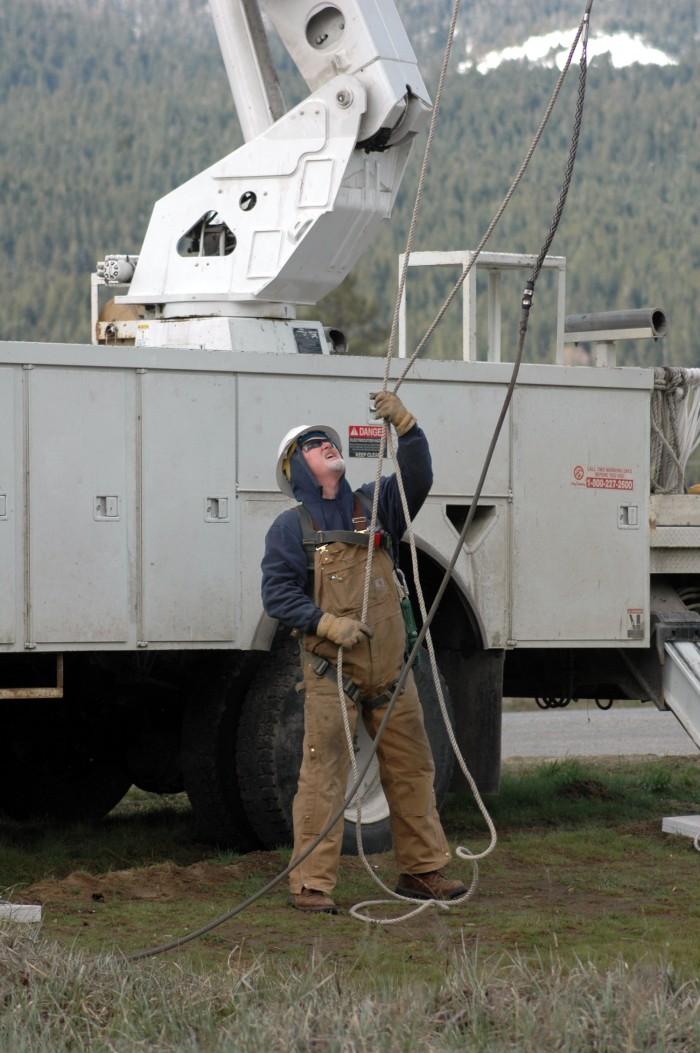 Greg Goodrich, Troubleman, Plumas-Sierra Rural Electric Cooperative