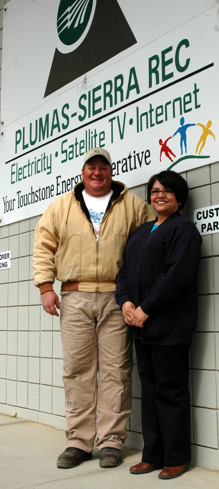 Todd Wolf, Linda ONeill, Plumas-Sierra Rural Electric Cooperative