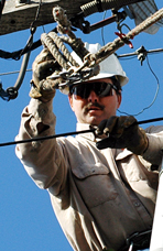 Frank Cotter, Lineman, Sacramento Municipal Utility District