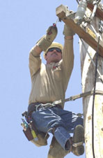 Mike Fisher, Lineman, Sacramento Municipal Utility District