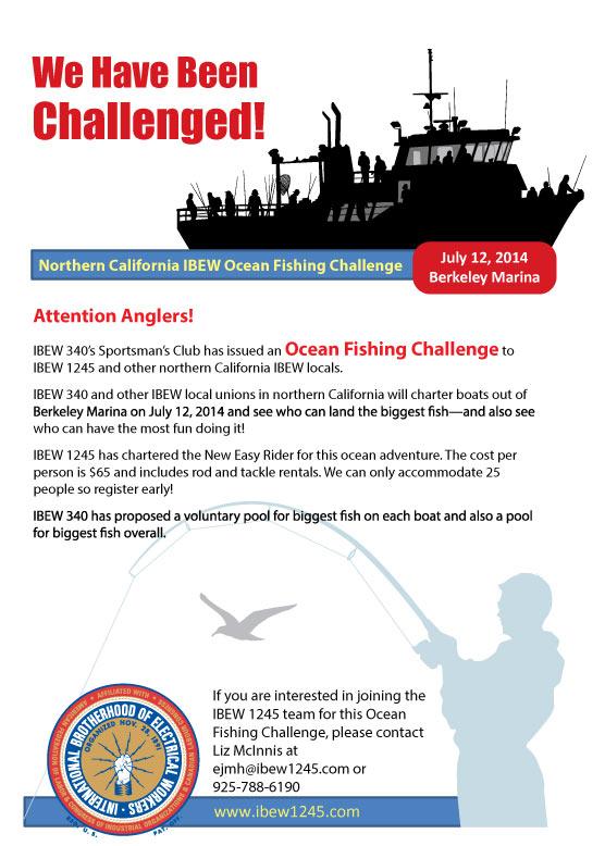 July 12th Norcal Ibew Ocean Fishing Challenge