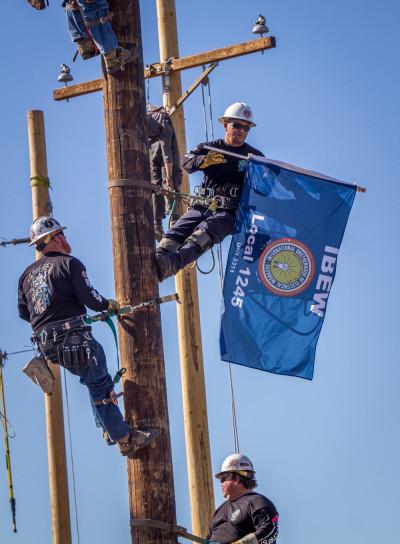 Ibew 1245 Apprentice Linemen Flaunt Their Skills Support