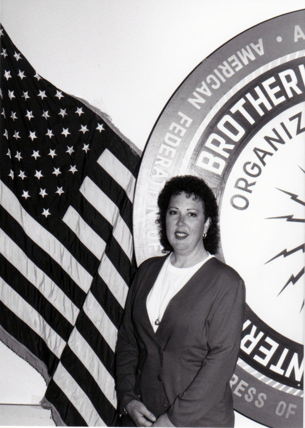Debbie at the old Walnut Creek headquarters after being elected to the Executive Board