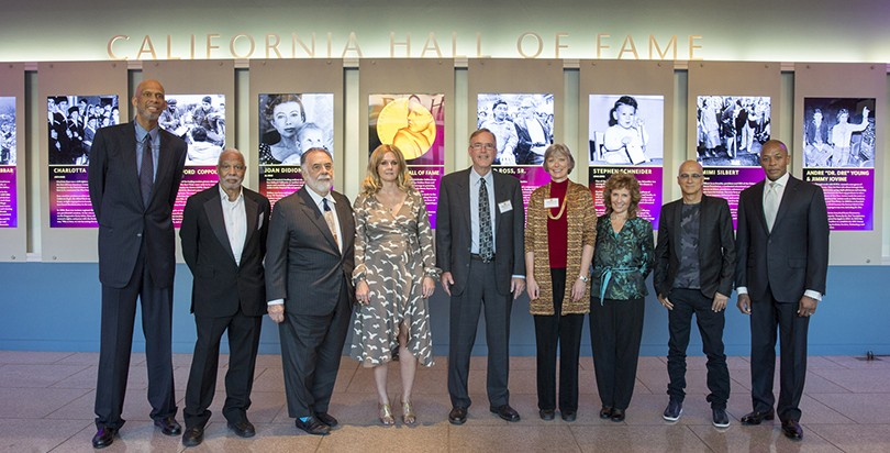The Hall of Fame inductees. Photo by Peter A. Williams. © The California Museum