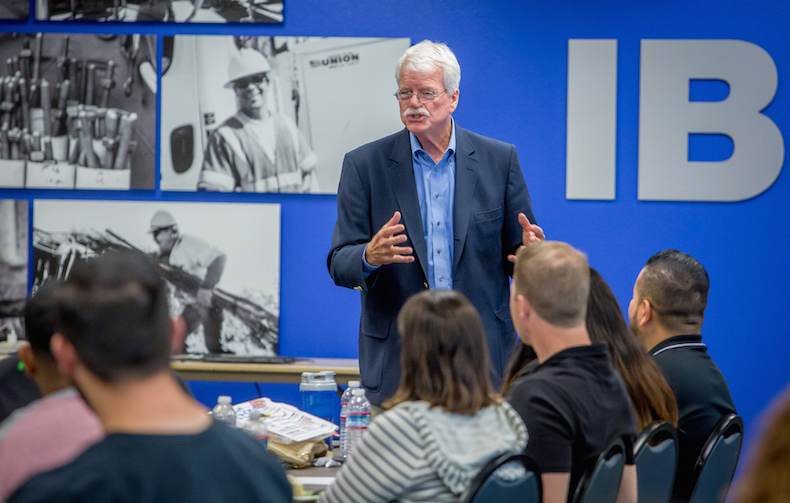 Congressman George Miller says union members must hold elected officials' feet to the fire.