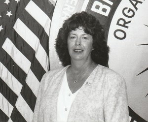 Chris in the mid-1990s at the old union headquarters in Walnut Creek, around the time she was elected to the Executive Board.