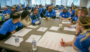 The Organizing Stewards broke out into groups to plan and prepare for the year ahead