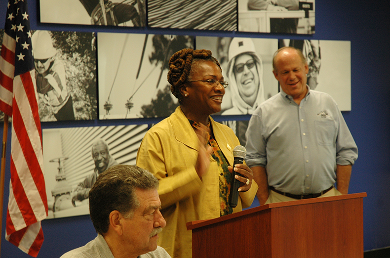 Local 2376 Business Manager Eleanor Brown spoke at a recent Advisory Council meeting