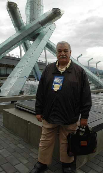 Choate at the 2011 IBEW Convention in Vancouver, British Columbia.