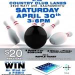April 30: Sacramento Charity Bowl
