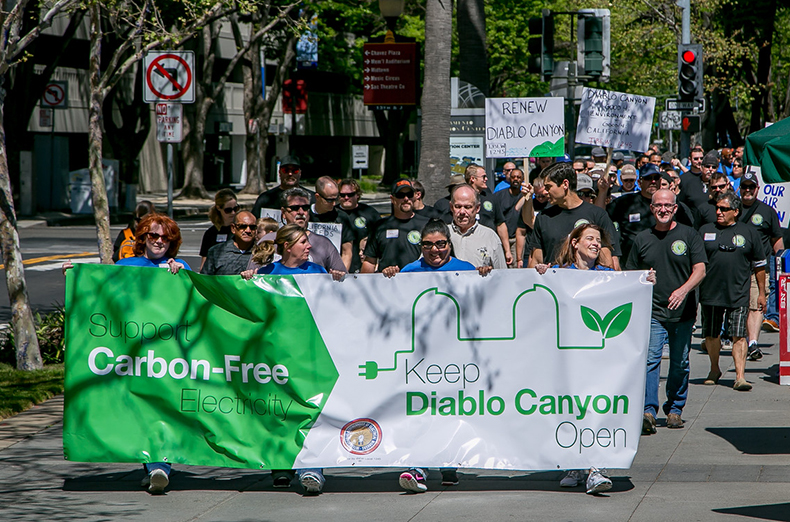 IBEW 1245 has a Rally for Diablo Canyon at the State Capitol in Sacramento, Calif., on April 4th, 2016.