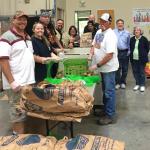 Local 1245 Leaders Volunteer at Food Bank