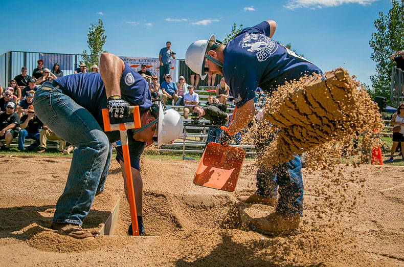 The NorCal GC Regulators team from PG&E in the Hand Dig event at the International Gas Rodeo in Denver, Colorado, on August 27th, 2016.