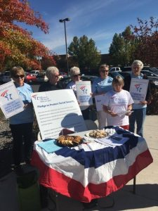 "Nevada retirees held a ""bake sale"" in support of Social Security"