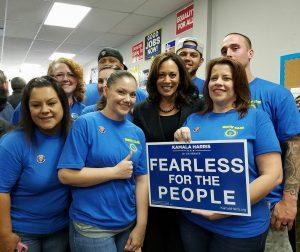 Local 1245 Organizing Stewards with Kamala Harris