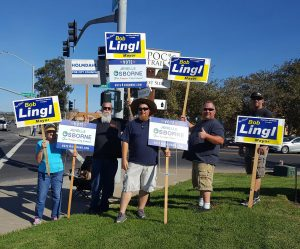 1245 members in Lompoc rallied on Election Day