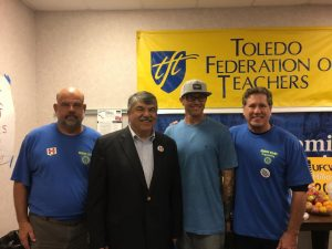 Kevin Krummes, Mike Grimm and Samson Wilson with AFL-CIO President Trumka in Ohio
