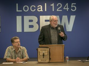 McNally shared some of the highlights from his 21-year term as Local 1245 Business Manager.