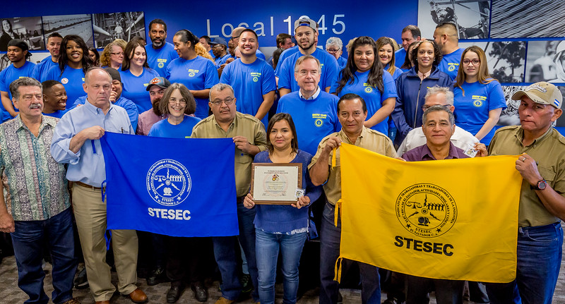 The STESEC leaders with Local 1245 Organzing Stewards