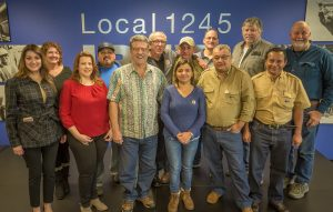 The STESEC leaders and Local 1245 Executive Board cemented the sister relationship
