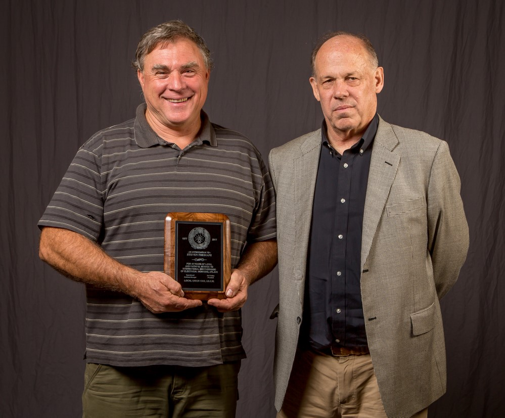 40 year member Steven Frediani with Tom Dalzell