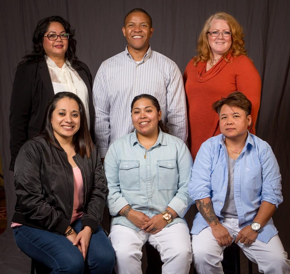 5 year members; front row-  Luz Rivera-Nunez, Jessica Salas, and Ampai Rattana. Back row- Danielle Seibel, Kyle Russo, and Kristen Rasmussen