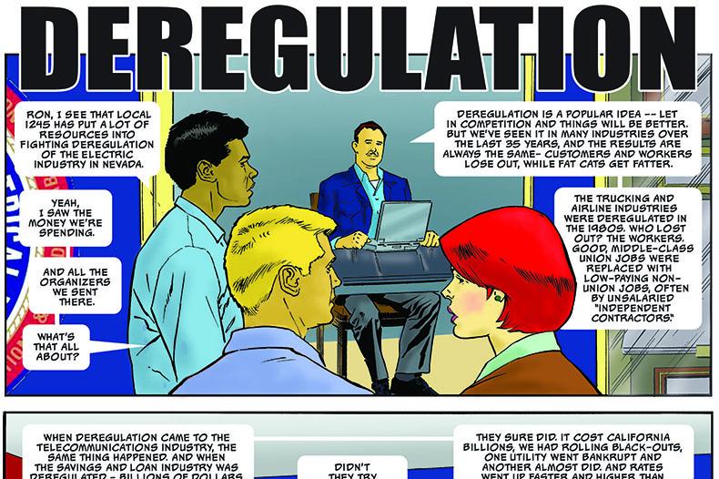 DEREGULATION comic slider