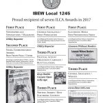 Local 1245 Receives Seven Awards For Excellence in Print and Electronic Media