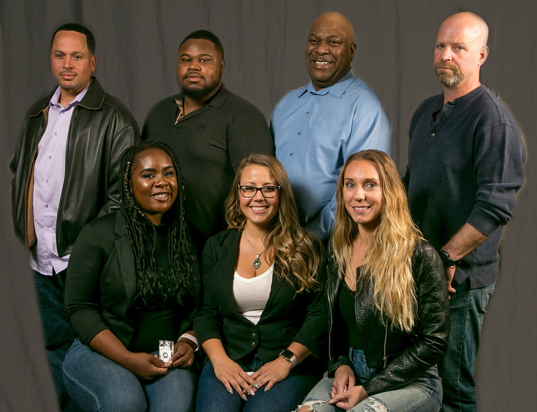 5 year members, from left: Front Row- five year members. Front row from Left: Kimberly Ussery, Beth Bungart , Marlene Chana. Back Row- Darnell Robinson, DeMario Hammond, Nathaniel Joseph, Jeff Davis