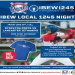 June 29: IBEW 1245 Night at Stockton Ports Baseball Game