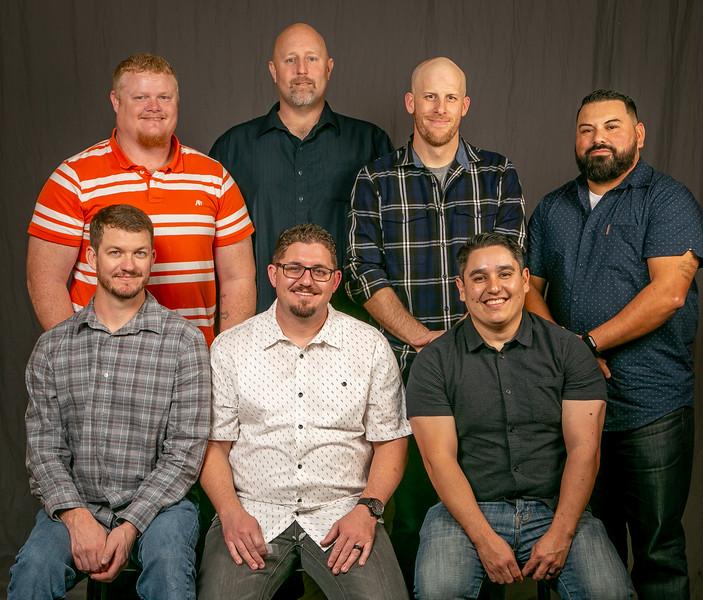 5 year members, from left- Front row: Travis McCrea, Nathan Datus, and Emmanuel Lopez. Back row: Daniel Gossett, Ronald Rossi Jr., Victor Gully, and Estavan Seniseros