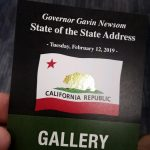 Steve Lange Represents IBEW 1245 at Gov. Newsom's First State of the State Address