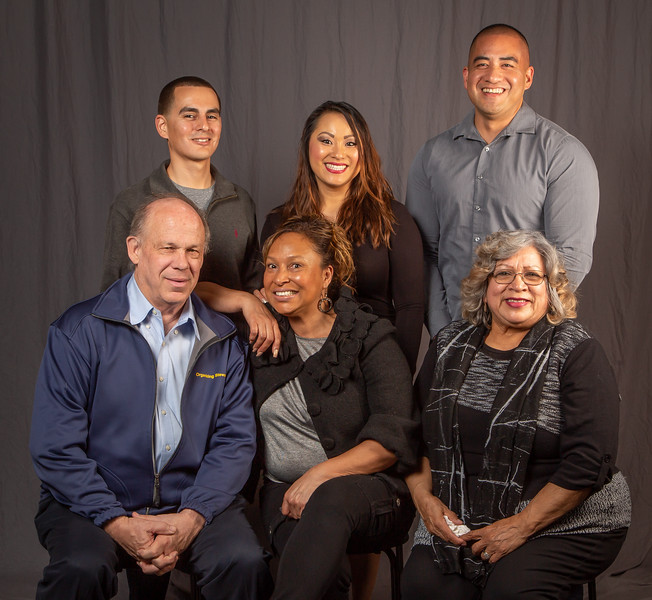 5 year members, from left: Back row- Dagoberto Balcazar, Kathy Lee Polido and Ramon Arcinas. Front row- Tom Dalzell,  Pauline Feazell, and Theresa Calderon
