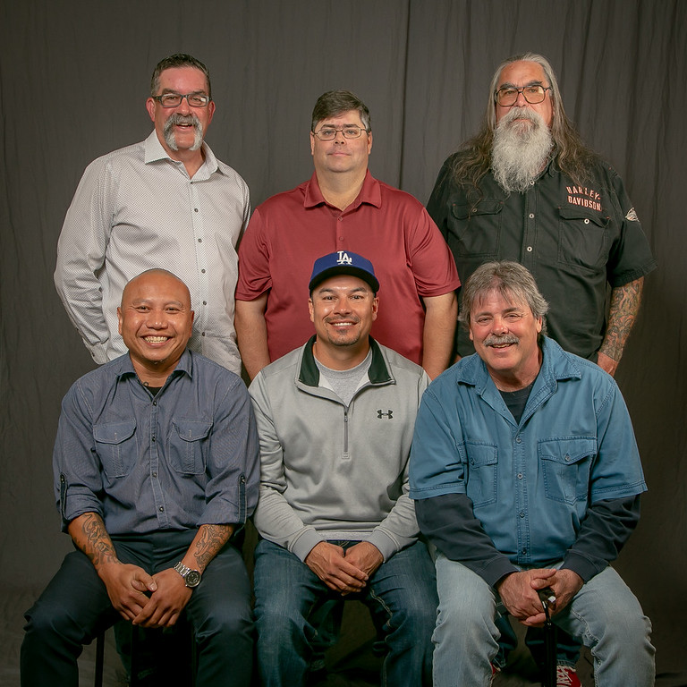 5 year members, from left:  Front row- Konang Sumaryadi Sr., Issac Rodriguez and Tracy Tripp. Back row- Robert Stricklin, Brian Stevens and Gary Silbaugh