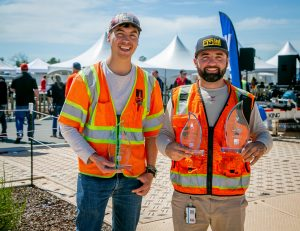 Locate competition 1st Place Overall winner Gilberto Grajeda, (left) and