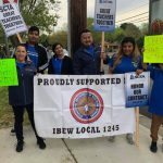 IBEW 1245 Stands in Solidarity with Striking Teachers in Sacramento