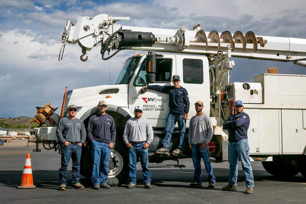 NV Energy crew, from left: Jose Sandoval, Aaron Coulson, Brady Brunson, Cody Parker, Eric Jackson and Willis Bland.