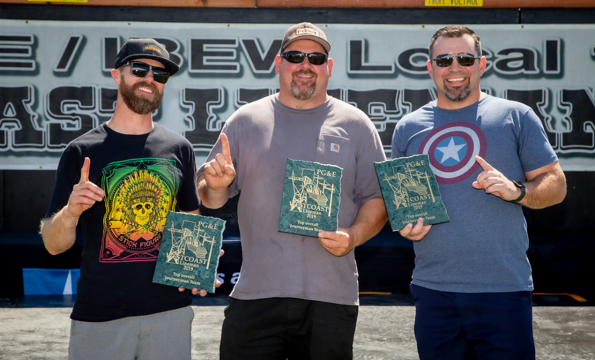 The 1st place Overall Journeyman team Anthony Albright, Adam Beene, and JP Richard