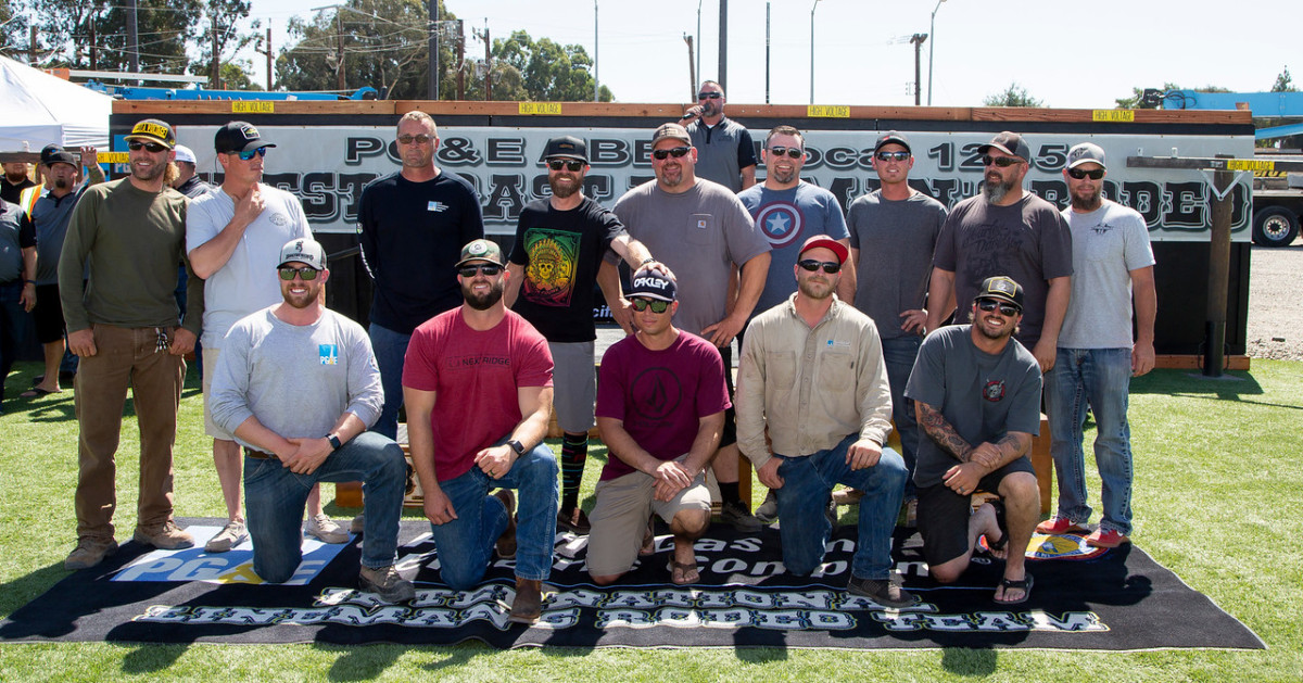 The top five PG&E apprentices and top three journeyman linemen teams going to Kansas City for the International Rodeo in October